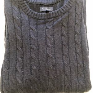 Croft and Barrow Navy Blue Mens L cable sweater